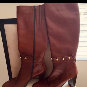 🥳HP🥳Davos Gomma Women sz 10 Brown Leather Boots